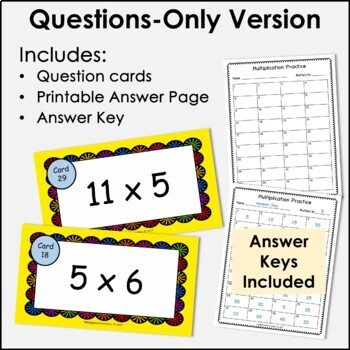 Digital Flash Cards - Multiply by 5