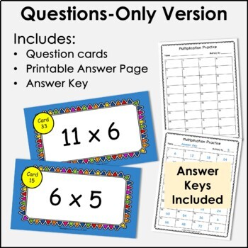 Digital Flash Cards - Multiply by 6