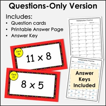 Digital Flash Cards - Multiply by 8