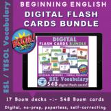 Digital Flash Cards bundle - automatic verbal prompt - Boo