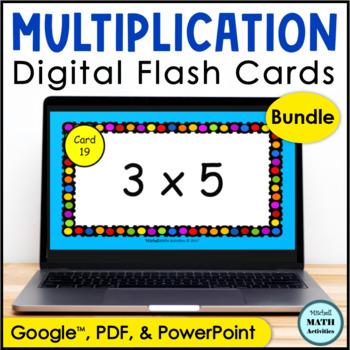 Digital Flash Cards for Multiplication BUNDLE