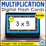 Digital Multiplication Flash Cards BUNDLE   Distance Learning