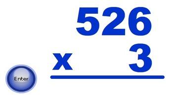 Digital Flashcards - 3 Digit by 1 Digit Multiplication