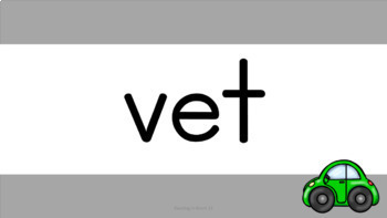 Digital Flashcards: CVC/Consonant Cluster Decodable Words, Phrases & Sentences