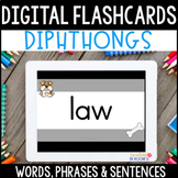 Digital Flashcards: Diphthong Decodable Words, Phrases & Sentences