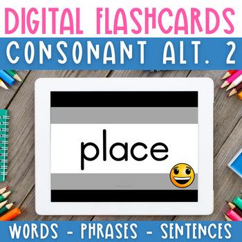 Digital Flashcards:Spelling Alternatives 2 Decodable Words,Phrases & Sentences