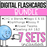 Distance Learning Digital Flashcards: Decodable Words,Phra