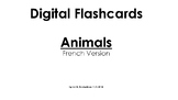 Digital Flashcards and Printable Bingo Cards Set in French