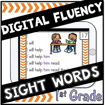 Digital Sight Words First Grade  Fluency Cards