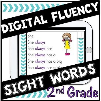 Digital Sight Words Second Grade  Fluency Cards