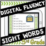 Digital Sight Words Third Grade Fluency Cards