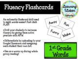 Digital Sight Word Flashcards for Fluency: 1st Grade