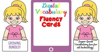 Digital Fluency Vocabulary Cards GROWING BUNDLE!!!