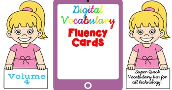 Digital Fluency Vocabulary Cards Volume 4