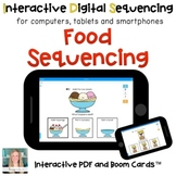 Digital Food Sequencing for Special Ed (Interactive PDF an