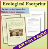 Ecological Footprint Click-and-Do Worksheet