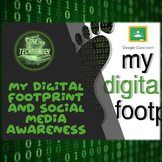 My Digital Footprint and Social Media Awareness Graphic Organizers Pack