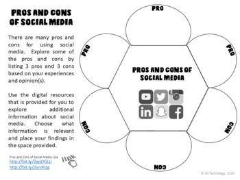 My Digital Footprint and Social Media Awareness Graphic Organizers Pack
