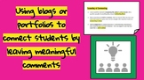 Teach Students to Leave Comments Online: Digital Citizenship