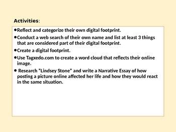 Digital Footprint Presentation