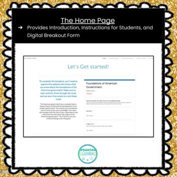 Digital Foundations of American Government Escape Room / Breakout Game