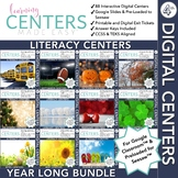 Digital Fourth Grade Literacy Centers - Year Long Bundle -