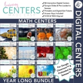 Digital Fourth Grade Math Centers | Year Long Bundle | Volume One