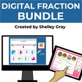 Digital Fraction BUNDLE for Grades 3-5 | Distance Learning