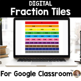 Digital Fraction Tile Clip Art: Virtual Manipulatives to Use w/ Google Classroom