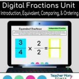 Digital Fractions:  Intro, Equivalent, Comparing, & Ordering  {Google Slides}