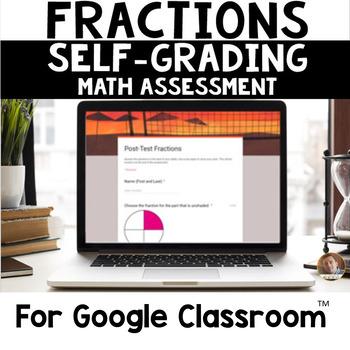 Digital Fractions SELF-GRADING Assessments for Google Classroom