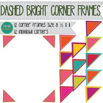 Digital Frame- Bright Dashed Corners