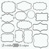 Digital Frame Clip Art Transparent Commercial Use Calligra