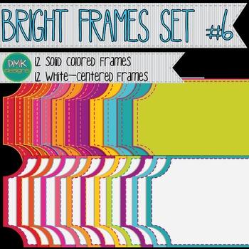 Digital Frame Set-  Bright Ticket Frames #6