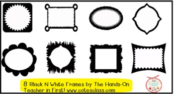 Black and White Fun Frames {personal or commercial use}