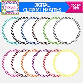Digital Frames - Chevron Circle Digital Frames {COMMERCIAL USE}