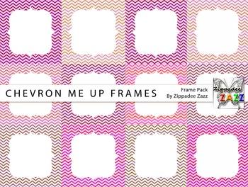 Digital Frames - Chevron Me Up Frames - 12 Frames