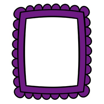 Digital Frames - Colorful Scallops Style 1 - Color Match Frames
