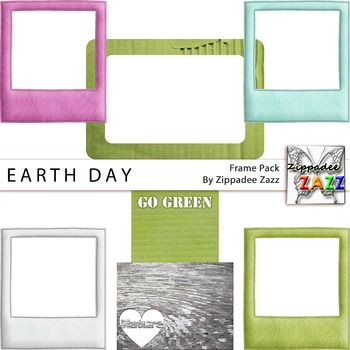 Digital Frames - FREE Earth Day Frames and Blurbs