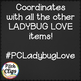 Digital Frames: Ladybug Love - 62 Frames in Red, Chalk, Bl