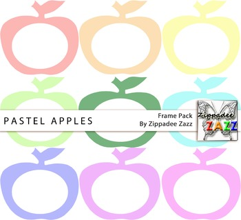 Pastel Apple Frames or Borders for Product Covers