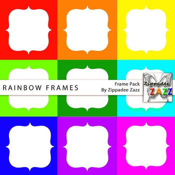 Rainbow Digital Frames and Borders for Product Covers