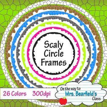 Digital Frames {Scaly Circles}