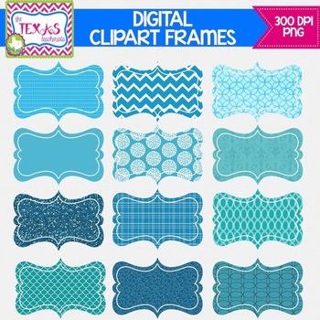 Digital Frames - Shades of Blue Digital Frames {COMMERCIAL USE}