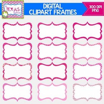 Digital Frames - Shades of Pink Digital Frames {COMMERCIAL USE}