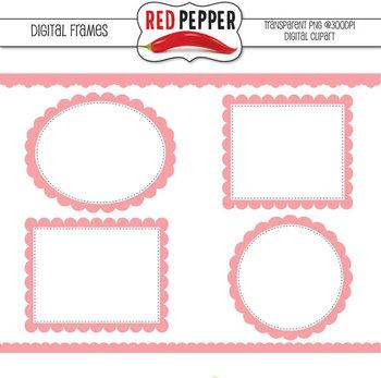 Digital Frames and Borders-Pink Digital Frames and Borders