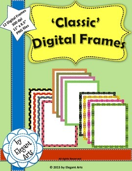 Digital Frames (squared dots) with white background
