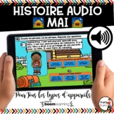Digital French Distance Learning AUDIO Boom Cards - HISTOI