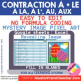 Digital French Pixel Art - Au Aux À La À L' - contractions