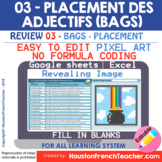 Digital French Pixel Art - BAGS French Adjectives Placemen